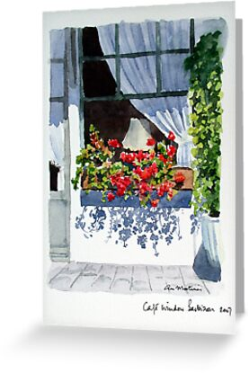 Café Window by Ann Mortimer