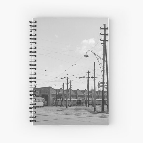 Tramways in Perth No.2 Car Barn Adelaide Terrace, East Perth, State Library of Western Australia Spiral Notebook