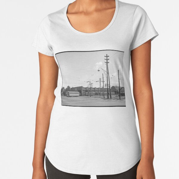 Tramways in Perth No.2 Car Barn Adelaide Terrace, East Perth, State Library of Western Australia Premium Scoop T-Shirt