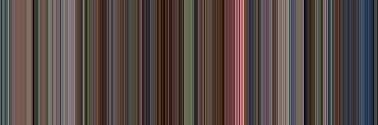 Moviebarcode: The Shining (1980) [Simplified Colors] by moviebarcode