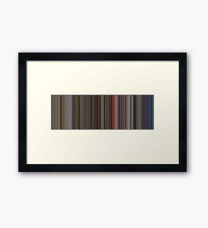 Moviebarcode: The Shining (1980) [Simplified Colors] Framed Print