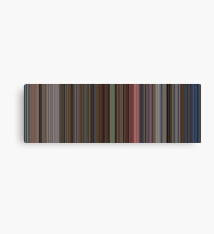 Moviebarcode: The Shining (1980) [Simplified Colors] Canvas Print