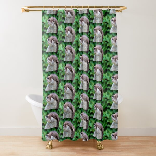 Happy otter smiles in the sun. Shower Curtain