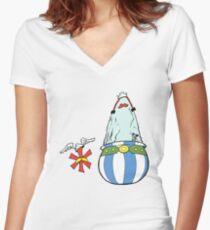 Asterisk & Obelisk Women's Fitted V-Neck T-Shirt