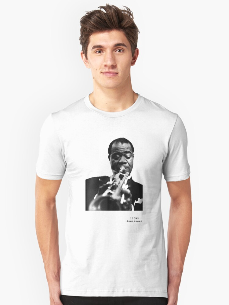 Iconic Stars Louis Armstrong by Andy Crawford