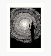 148 - JOURNEY INTO LIGHT - DAVE EDWARDS - 1988 - PEN & INK Art Print