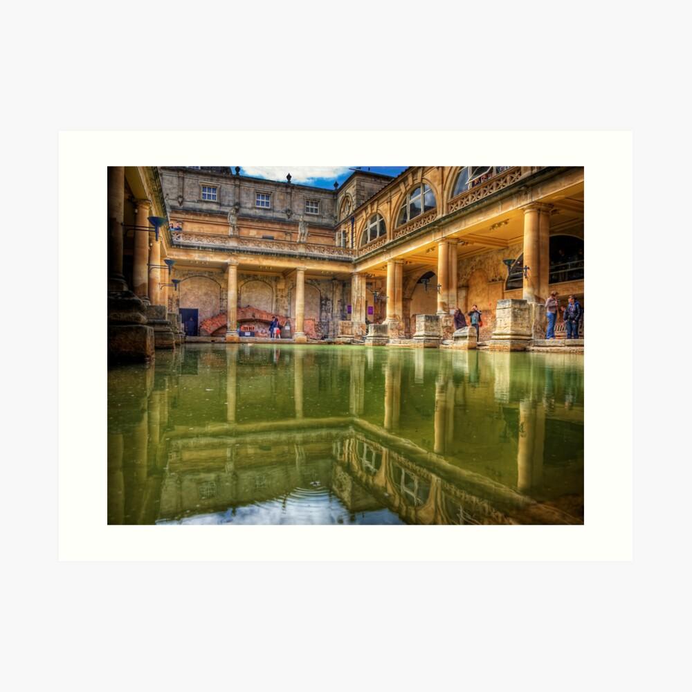 The Great Bath, in Bath, U.K. Art Print