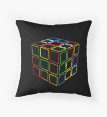 Rubix Cube Throw Pillow