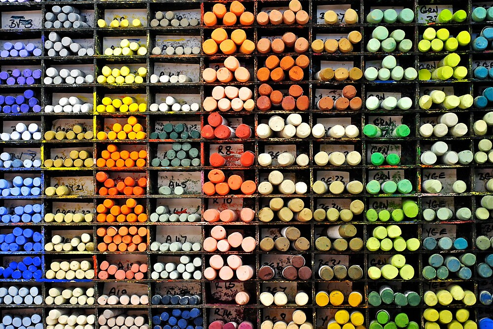 chalk pastels  by richard  webb