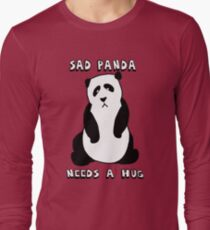 Sad Panda Needs A Hug Long Sleeve T-Shirt