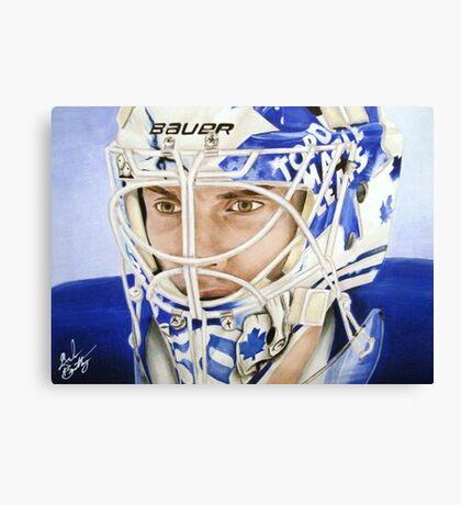Jonas Gustavsson (Toronto Maple Leafs) Canvas Print