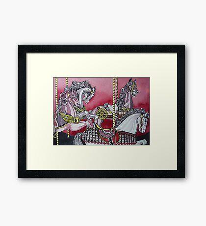Rose Carousel Framed Print