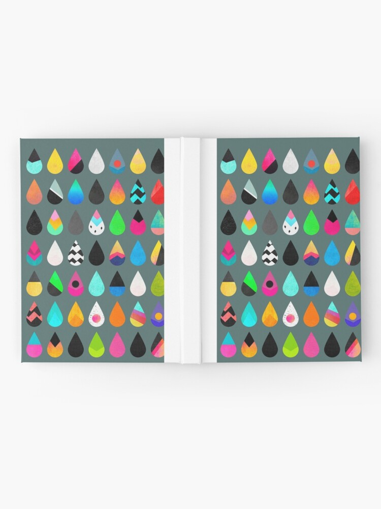 Alternate view of Colorful Rain Hardcover Journal