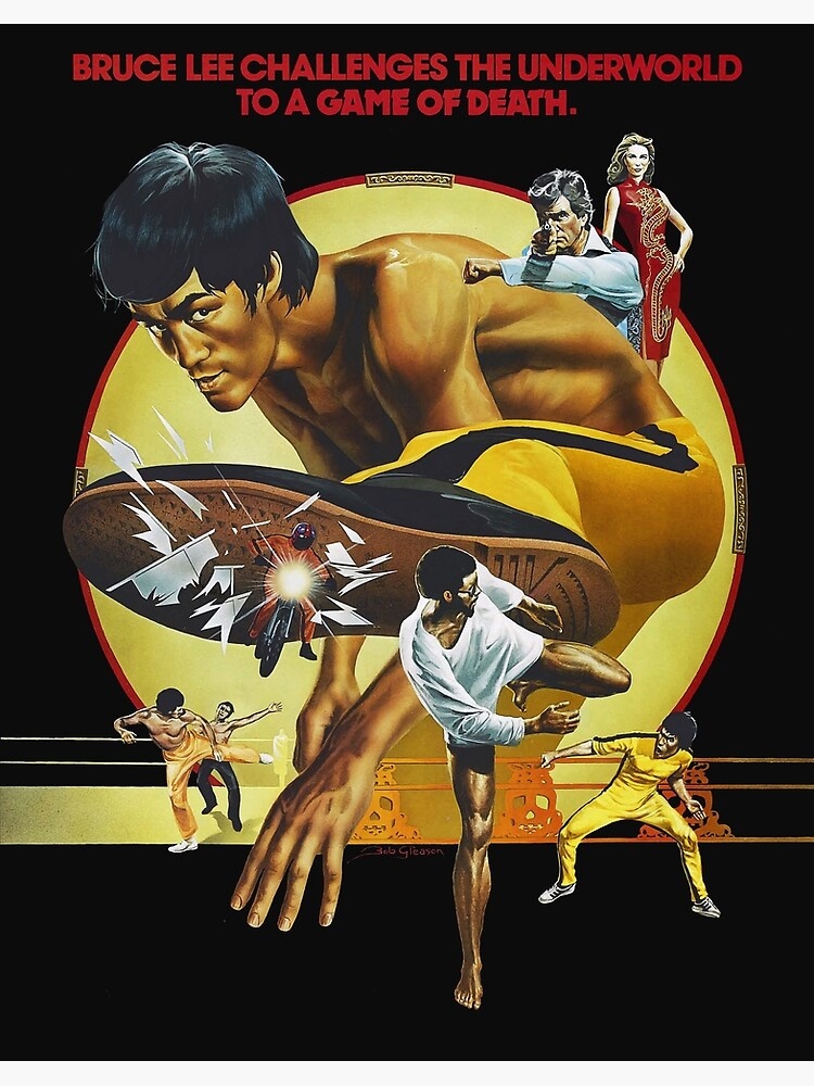 MMA Art Framed Bruce Lee Movie Print The Game of Death 1978 Chinese Version