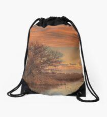 Marsh Sunset Drawstring Bag
