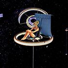 Chillin at the space station by Retro Collage