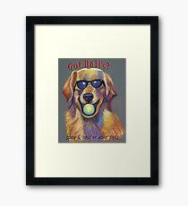 Golden Retriever - Spay/Neuter Framed Print