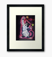 Juggling Cat - Spay/Neuter Framed Print