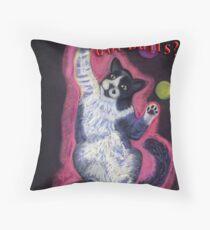 Juggling Cat - Spay/Neuter Throw Pillow