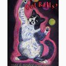 Got Balls? Juggling Cat by Ann Marie Hoff