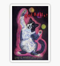 Got Balls? Juggling Cat Sticker