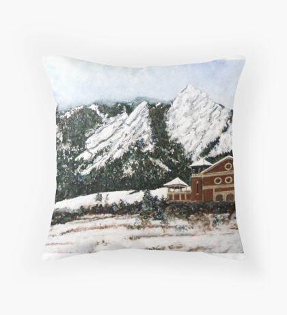 Chautauqua - Winter, Late Afternoon Throw Pillow