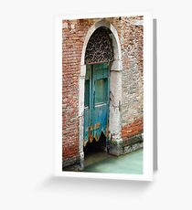 A door of Venice Greeting Card