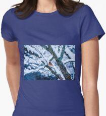 Female Cardinal In Snowy Tree T-Shirt
