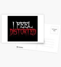 I Feel Distorted Postcards