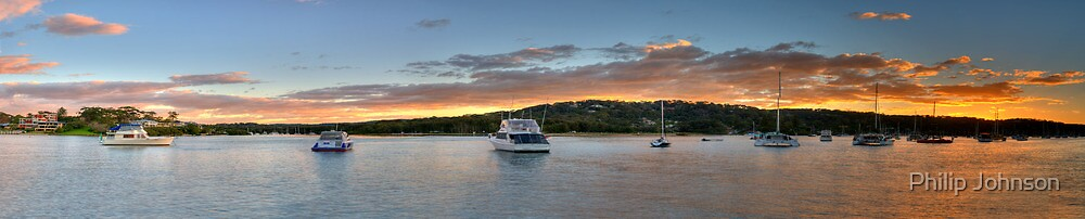 Days End - (65 Exposure HDR Panoramic) Newport, Sydney - The HDR Experience by Philip Johnson
