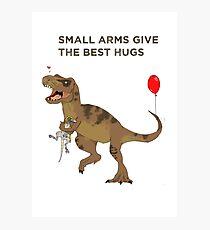 Dinosaurs like hugs too! Photographic Print