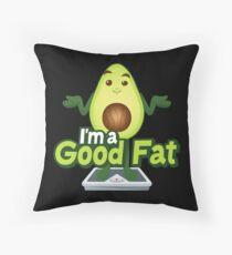 I'ma Good Fat Avocado Emoji  joypixels Throw Pillow