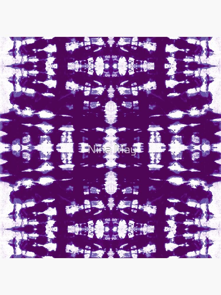Purple Kumo Shibori by ninabmay
