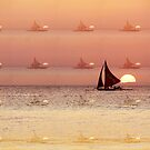 sailing across the sunset by lensbaby