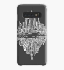 New York & London Reversible Skylines - White Case/Skin for Samsung Galaxy