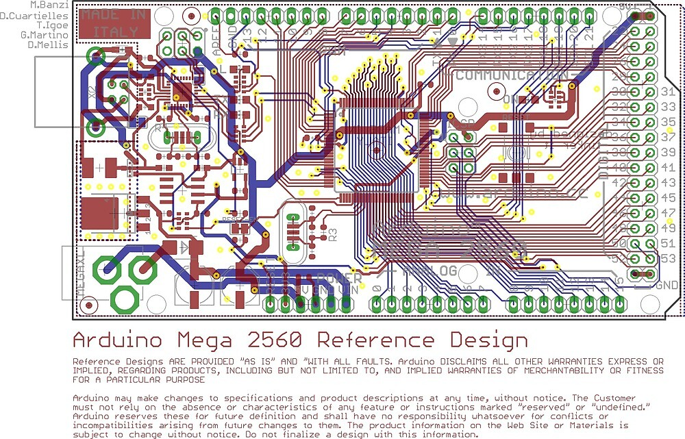 Arduino Mega 2560 Reference Design by Rupert Russell