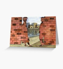 070 - IF ONLY THESE BRICKS COULD TALK I (WATERCOLOUR & INK) - 1997 Greeting Card