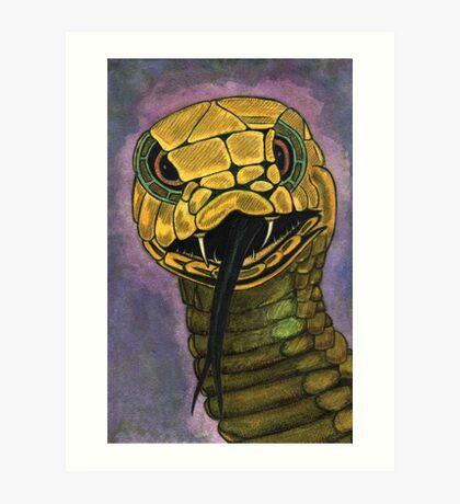 91 - SNAKE - DAVE EDWARDS - WATERCOLOUR - 2002 Art Print