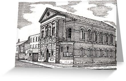 164 - CENTRAL METHODIST CHURCH, BLYTH - DAVE EDWARDS - INK - 1988 by BLYTHART