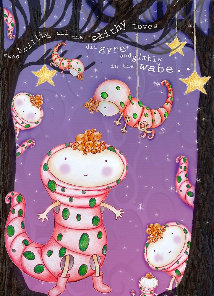 "Jabberwocky poem Illustration ""Slithy toves"" by lilybobble"