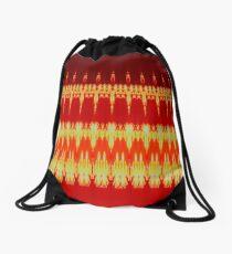 Red Embers Drawstring Bag