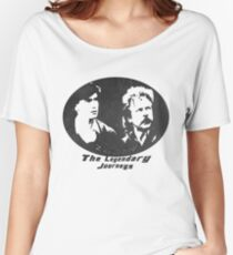 Rowsdower:  Zap And Troy the Legendary Journeys Tee (b&w version) Women's Relaxed Fit T-Shirt
