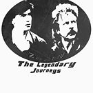 Rowsdower:  Zap And Troy the Legendary Journeys Tee (b&w version) by Margaret Bryant