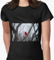 Cardinal In A Snow Storm T-Shirt