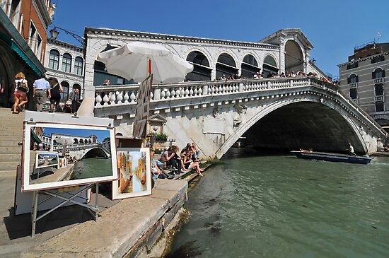 Trickery on the Rialto bridge by neil harrison
