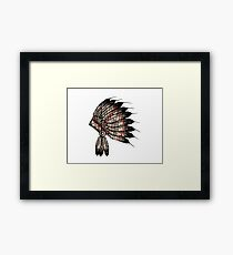 Native American Headdress Framed Print