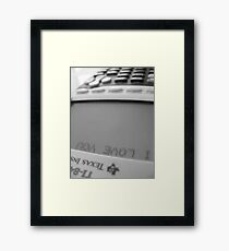 I love you. Framed Print