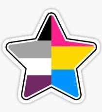 Panromantic Asexual Star Sticker