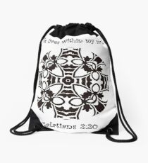 He Lives Within My Soul Drawstring Bag