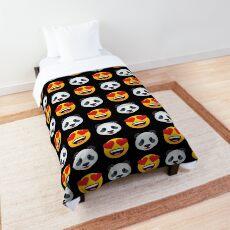 Love Panda Emoji JoyPixels Lovely Cute Funny Pandas Comforter